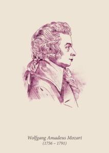 Postcard Mozart numiphil 2016